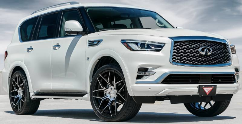 2018 Infiniti QX80 on Ferrada FT3 Machine Black