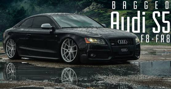 Bagged Audi S5 on Ferrada F8 -FR8 Wheels