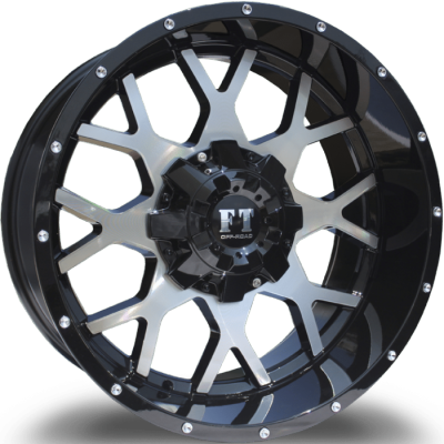Full Throttle FT0151 Machine Black Wheels