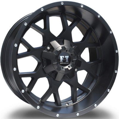 Full Throttle FT0151 Satin Black Wheels