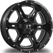Full Throttle FT-6054 Bullet Gloss Black Milled