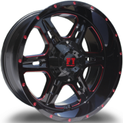 Full Throttle FT-6054 Bullet Black with Red Milled