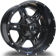Full Throttle FT-6054 Bullet Satin Black Wheels