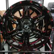 Full Throttle FT-6054 Bullet Black and Red Wheels