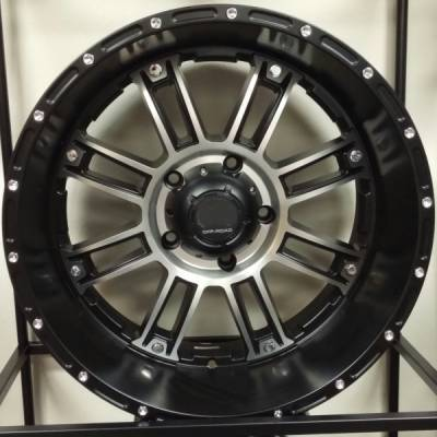 Full Throttle Off-Road 8033 Black Machined Wheels