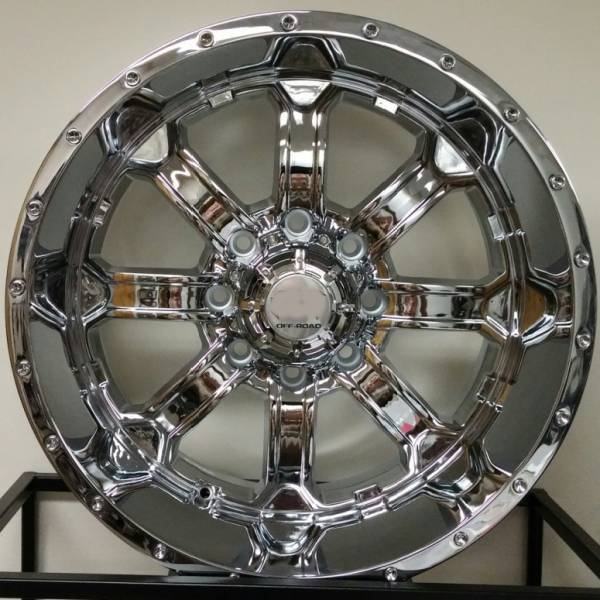 Full Throttle Off-Road 8034 Chrome Wheels