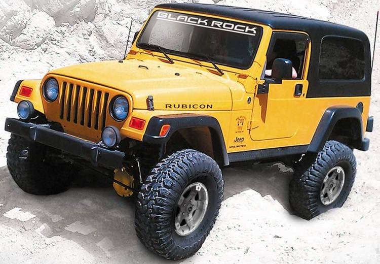 Jeep Wrangler on Blacfk Rock 900S Viper Wheels