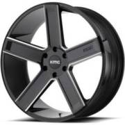 KMCKM702 Satin Black Milled Wheels