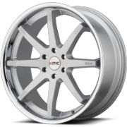 KMC KM715 Reverb Brushed Silver Wheels with Chrome