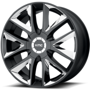 KMC KM710 Takedown Satin Black with Chrome Inserts