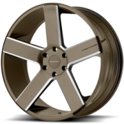 KMC KM690 MC 5 Bronze Milled Wheels