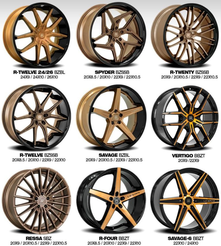Lexani SS and Concave Sport Bronze Finish Wheels
