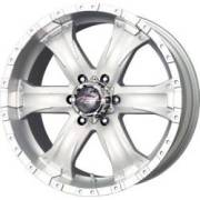 MB Chaos 6 Siver Machined Wheels